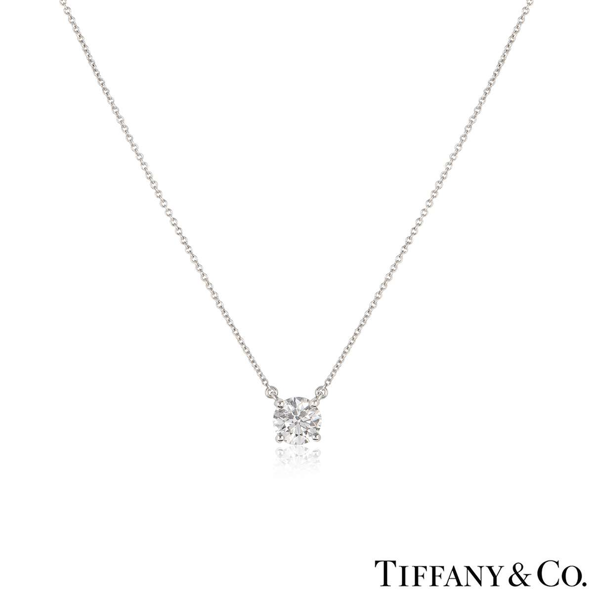 Tiffany & Co. Platinum Diamond Pendant 1.29ct H/VS1 XXX